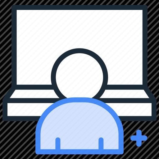 developer, employee, laptop, office, user, work icon