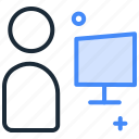 chat, communication, live chat, video call, webinar icon