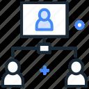 call, chat, communication, management, virtual presence, webinar icon
