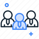 business owners, businessman, group, people, team, users icon