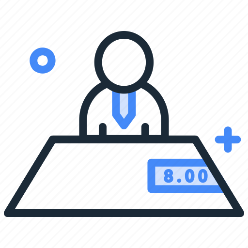 business, interview, meeting, office, table, workplace icon