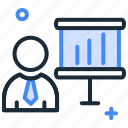 analytics, business, chart, meeting, presentation, reports, sales icon