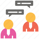 chat, communication, conference, discussion, group discussion, meeting icon