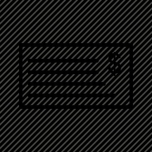 cheque, money icon