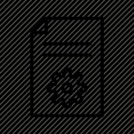 document, file, management icon