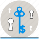 business, concept, key, success icon