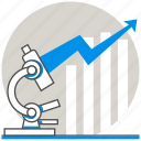 business, concept, market research, microscope icon