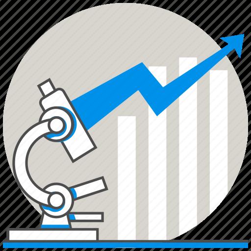 business, concept, market research, microscope icon