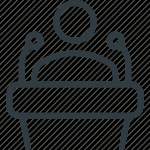 microphone, podium, politician, speaker, speech icon