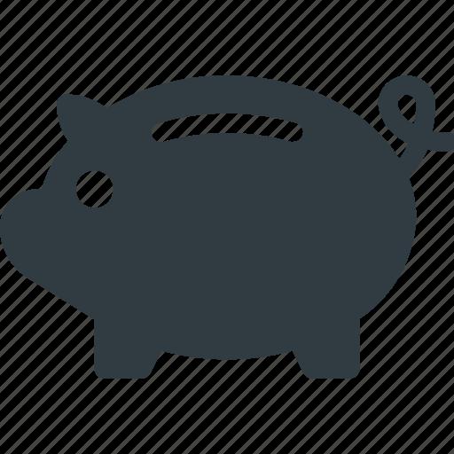 Money, savings, finance, bank, piggy icon