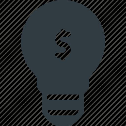 bulb, idea, light, lightbulb, money, solution icon