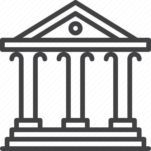 bank, building, business, court, finance icon