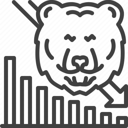 Bear, business, down, market, stock, trend icon - Download on Iconfinder