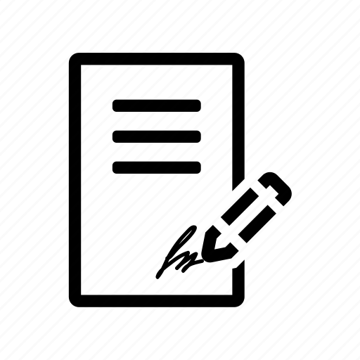 commerce, contract, document, paper icon icon