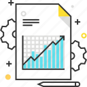 arrow, bisuness, document, finance, graph, growth, stats icon
