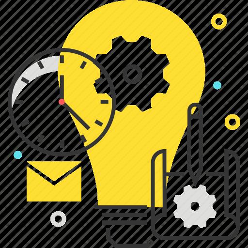 blue print, creativity, idea, light, produce, productivity icon