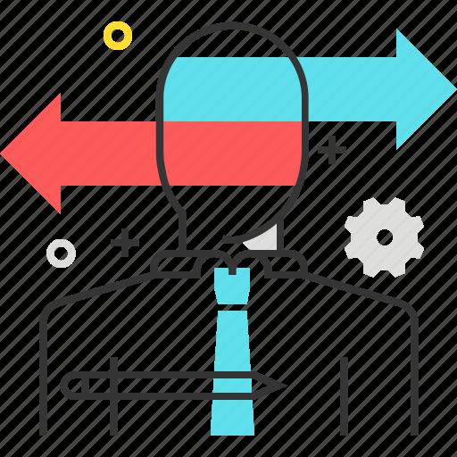 arrow, choose, employee, options, select, way icon