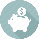 bank, finance, marketing, money, office business, piggy icon