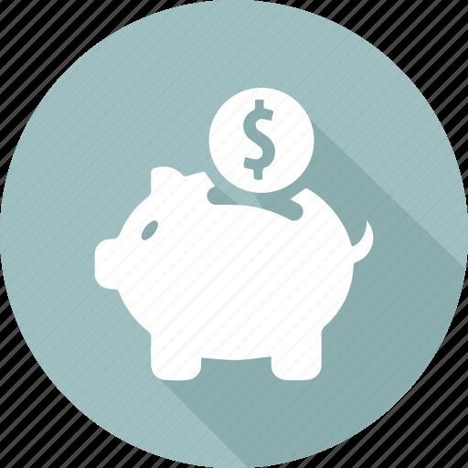 bank, finance, marketing, money, office business, piggy icon