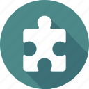 finance, marketing, money, office business, puzzle icon