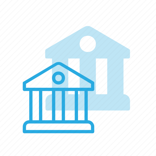 architecture, bank, banking, building, finance, money icon