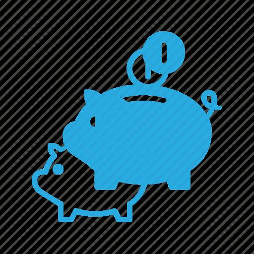 bank, finance, money, piggy, savings icon