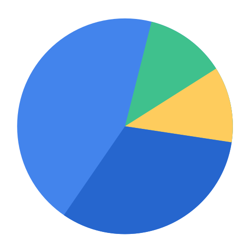 Report, piechart, chart, business, market share, analytics, statistics icon