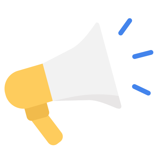 advertise, business, marketing, megaphone, seo, work icon
