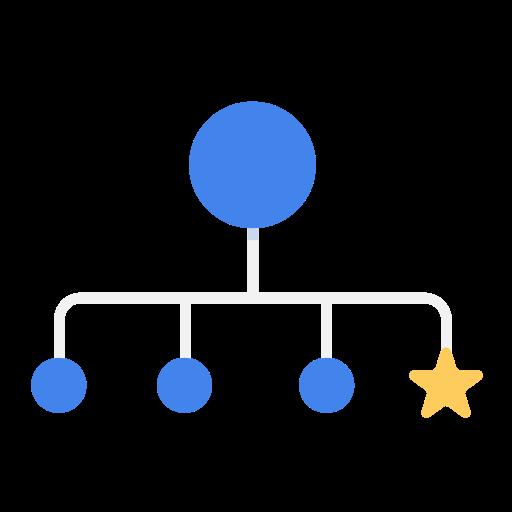 business, chart, hr, organization, rookie, star icon