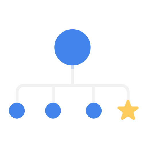 Business, chart, hr, organization, rookie, star icon - Free download