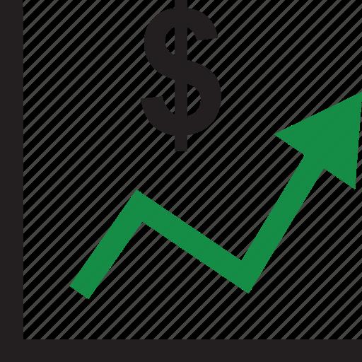 chart, dollar, money icon