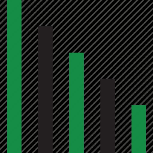 chart, decline, housing icon