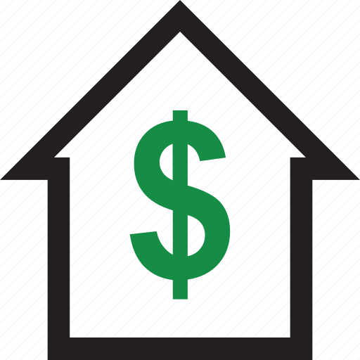 dollar, equity, online, sign icon