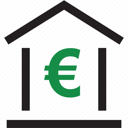 equity, euro, online, sign icon