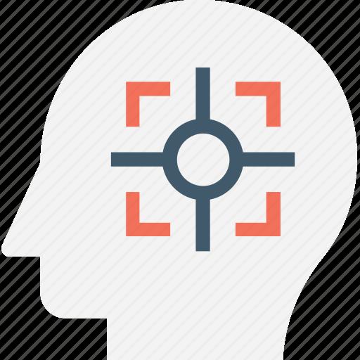 concentration, focus, intelligence, logics, mind icon