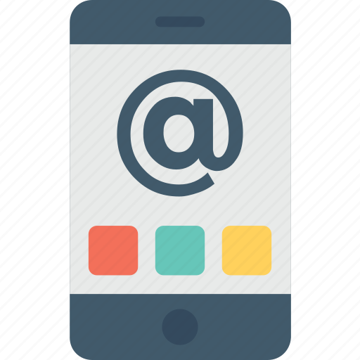 arroba, email, mobile, mobile internet, network icon