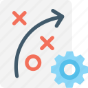 cog, marketing, plan, strategy, tactic icon