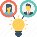 bulb, create idea, idea, idea sharing, innovation icon
