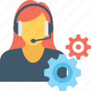 cog, customer service, customer support, support, technical support icon