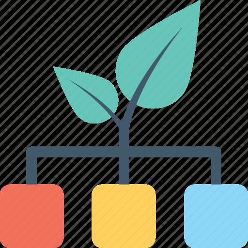 hierarchy, network, organization, sitemap, workflow icon