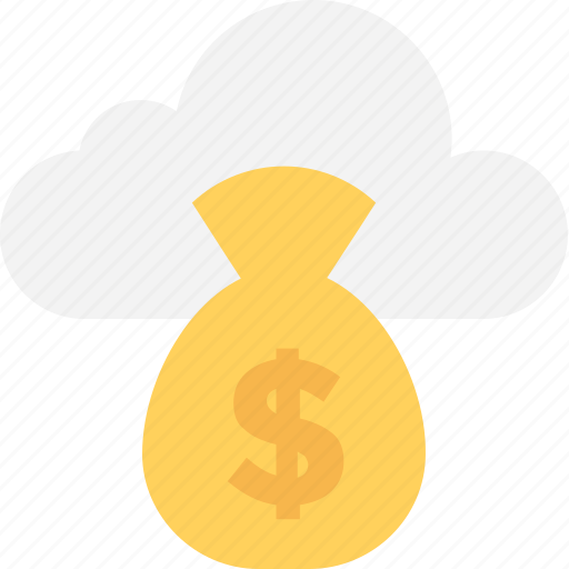 cloud, cloud computing, crowdfunding, dollar, online business icon