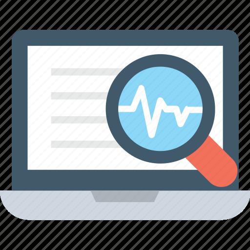 magnifier, optimization, search, search results, seo icon