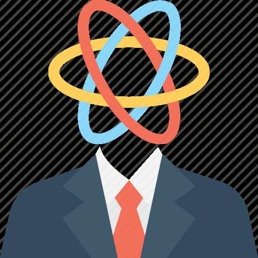 atom, atomic power, man, nuclear, scientist icon
