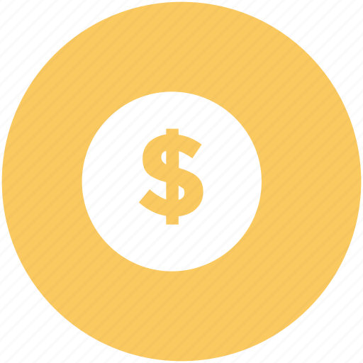 currency, dollar coin, dollar sign, finance, financial, money, savings icon