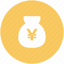 cash, cash bag, japanese yen, money sack, yen currency, yen sack icon