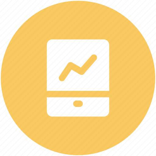 business growth, cell phone, mobile, mobile graph, stats icon