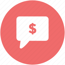 banking, business communication, business dialog, dealing, dollar sign, finance, speech bubble icon
