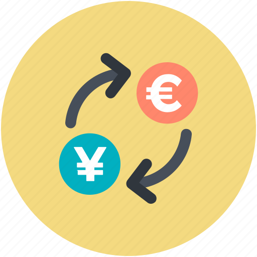 currency exchange, currency notes, foreign exchange, money conversion, money exchange icon