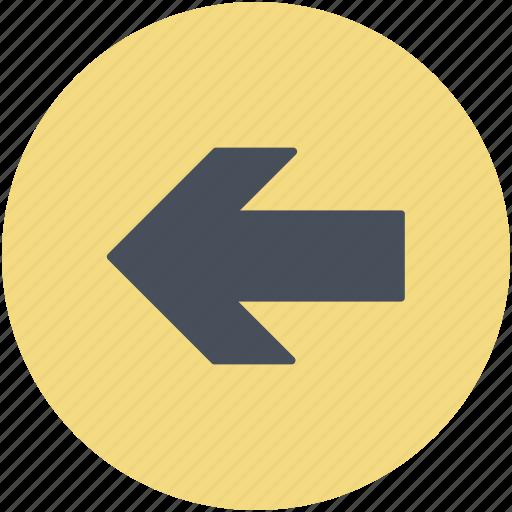 arrow, direction arrow, left arrow, left direction, navigation arrow icon