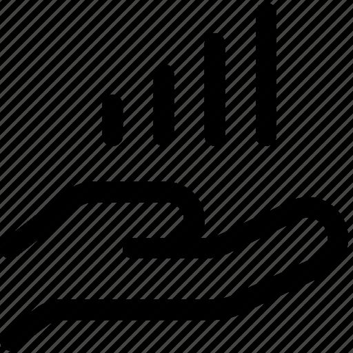 analytics, chart, data, growth, kpi, palm, valuable icon